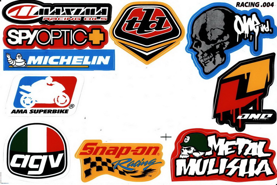 Sponsor Racing Car Sticker Decal Sheet Jatujakthai